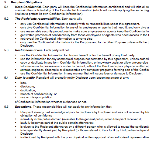 short non disclosure agreement template - nda page 1 michalsons