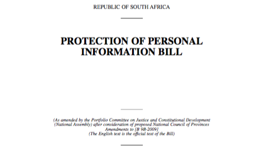 Protection of Personal Information Bill