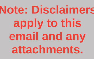 email disclaimer