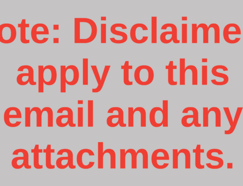 Hyper-linked email disclaimers coming to an end?