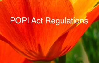 The POPI Regulations, POPI Act Regulations or the POPIA Regulations.
