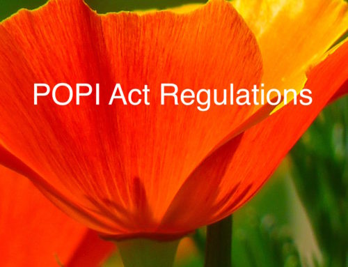 POPI Regulations or POPIA Regulations are being Drafted