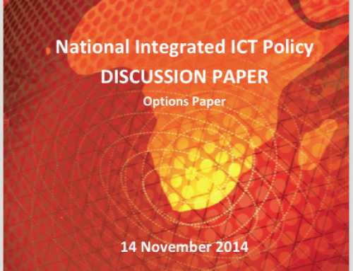 National Integrated ICT Policy: Discussion Paper