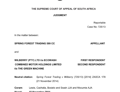 Spring Forest Trading v Wilberry