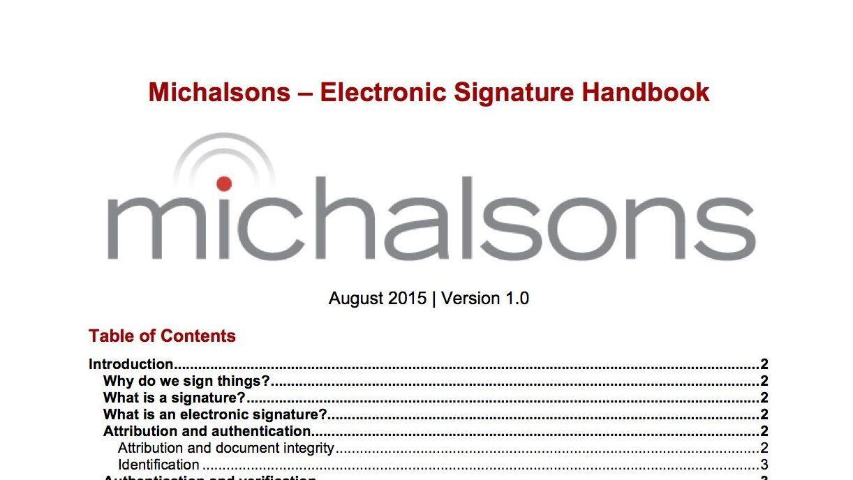 Electronic Signature Handbook