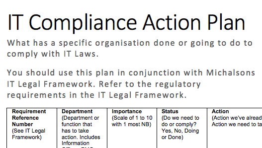 compliance action plan