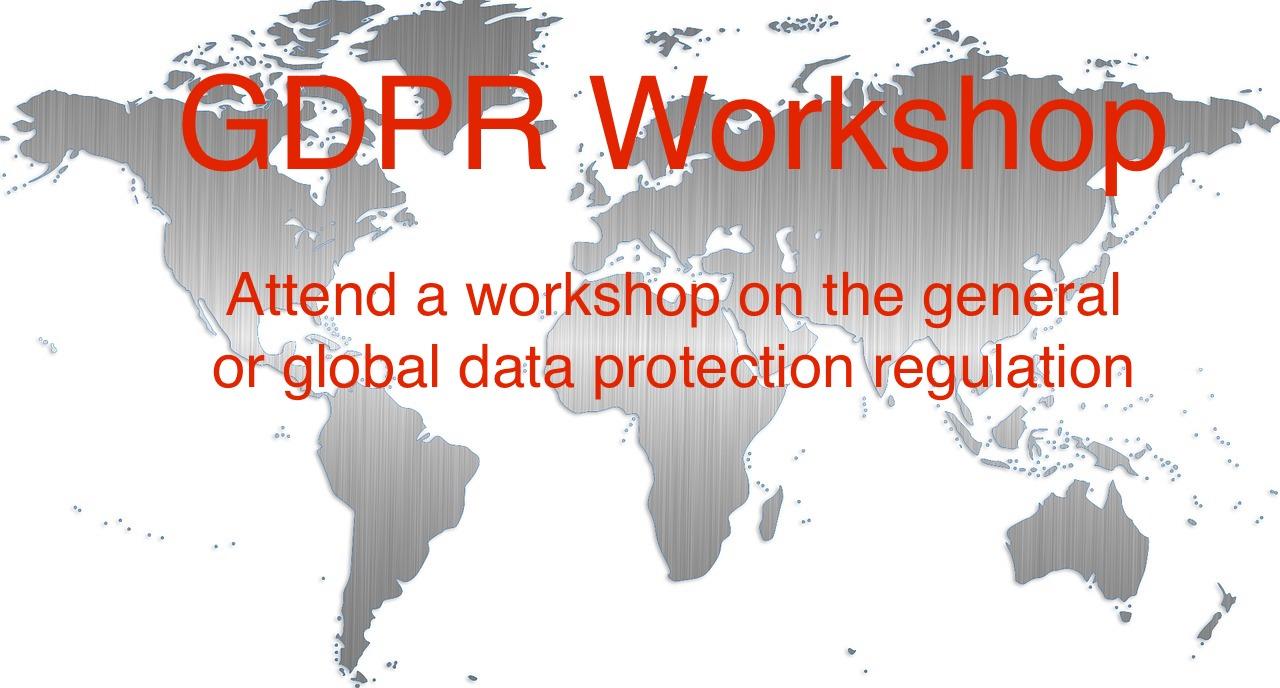 Attend a GDPR workshop, GDPr Conference or GDPR webinar