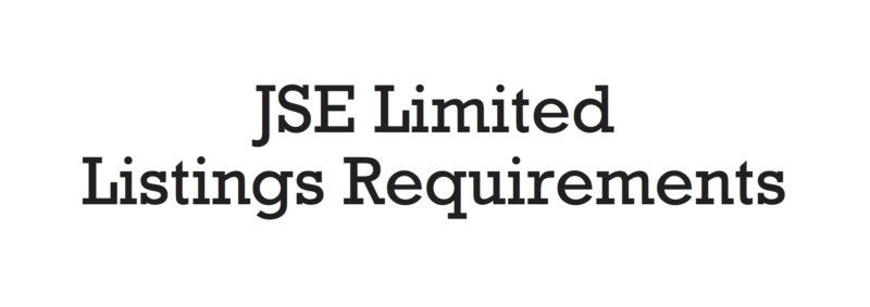 jse listing requirements
