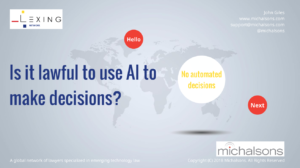 Is it lawful for AI to make decisions