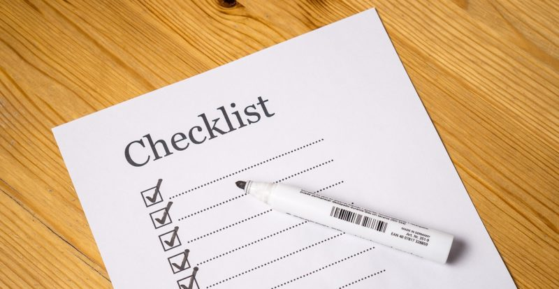 data protection standard or checklist